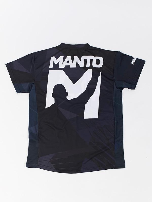 Manto Performance T Shirt Icon Black Training T Shirts